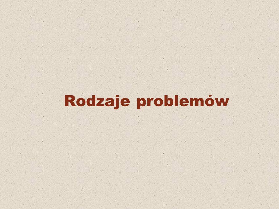 Rodzaje problemów