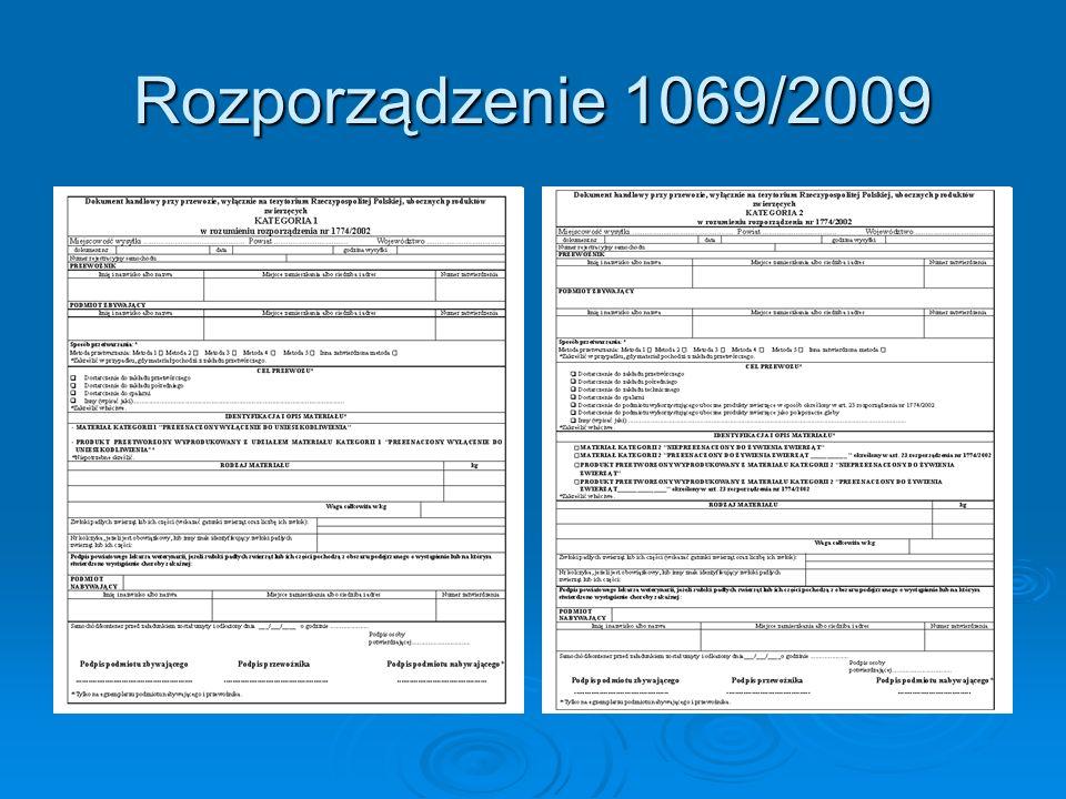 Rozporządzenie 1069/2009