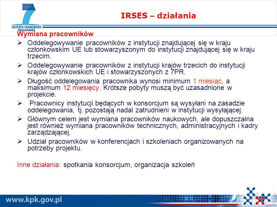 Wymiana pracowników Oddelegowywanie pracowników z instytucji znajdującej się w kraju członkowskim UE lub stowarzyszonym do instytucji znajdującej się