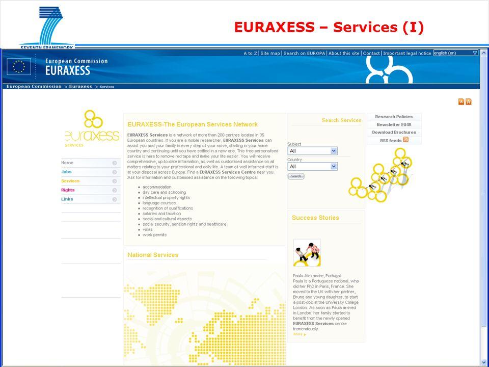 EURAXESS – Services (I)