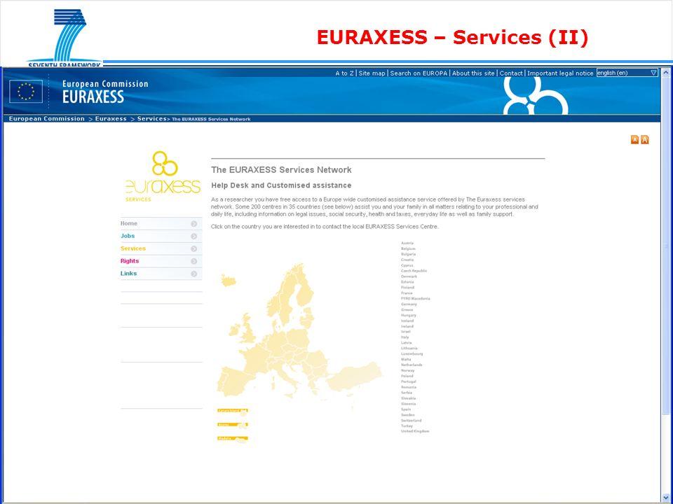 EURAXESS – Services (II)