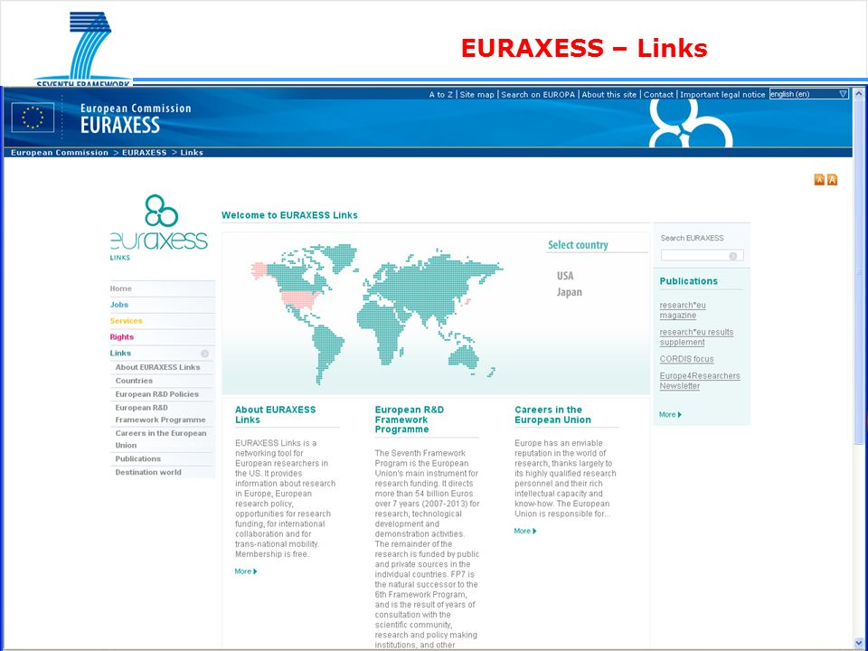 EURAXESS – Links