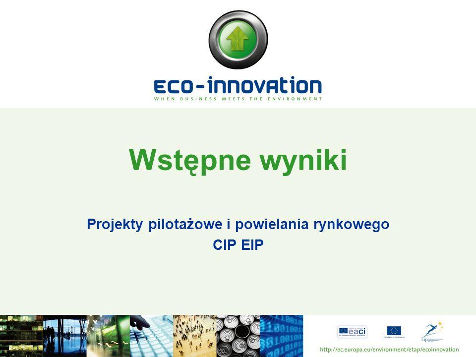 Wstępne wyniki Projekty pilotażowe i powielania rynkowego CIP EIP