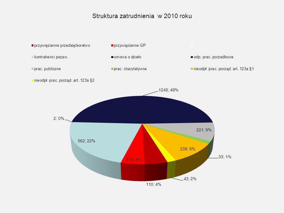 Struktura zatrudnienia w 2010 roku