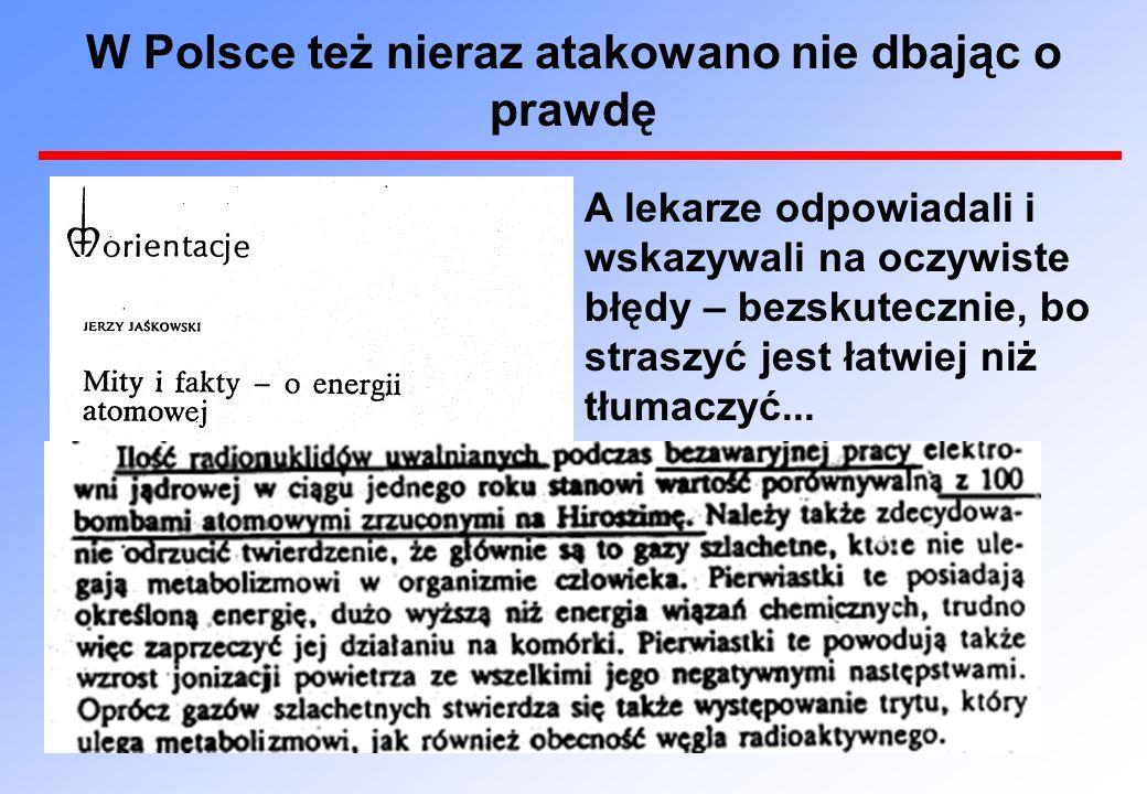 W Polsce też nieraz atakowano nie dbając o prawdę A lekarze odpowiadali i wskazywali na oczywiste błędy – bezskutecznie, bo straszyć jest łatwiej niż tłumaczyć...