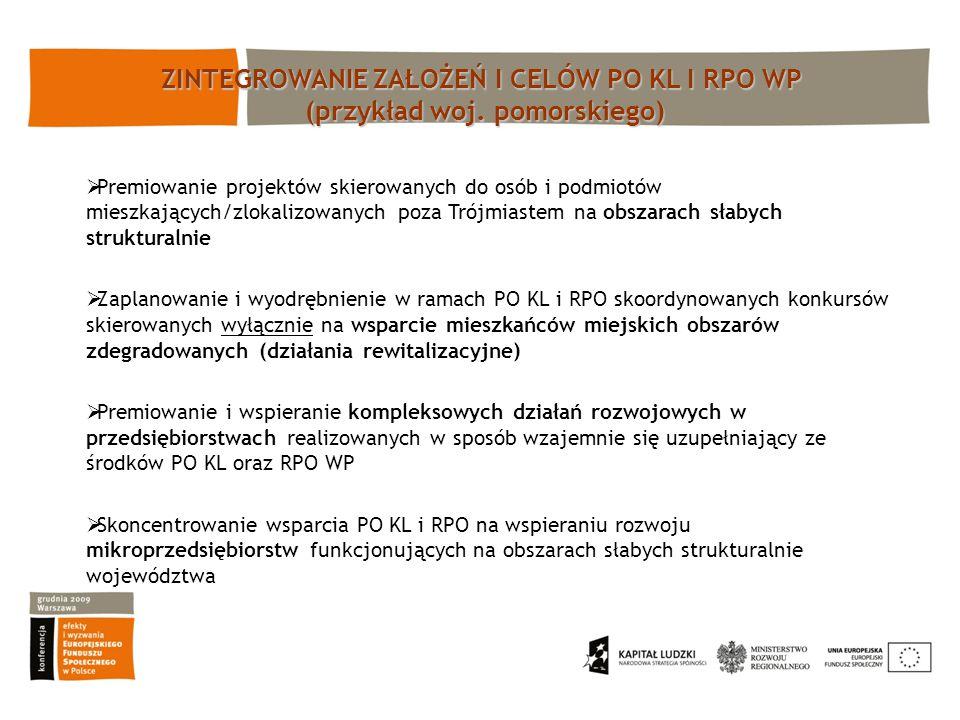 Premiowanie projektów skierowanych do osób i podmiotów mieszkających/zlokalizowanych poza Trójmiastem na obszarach słabych strukturalnie Zaplanowanie