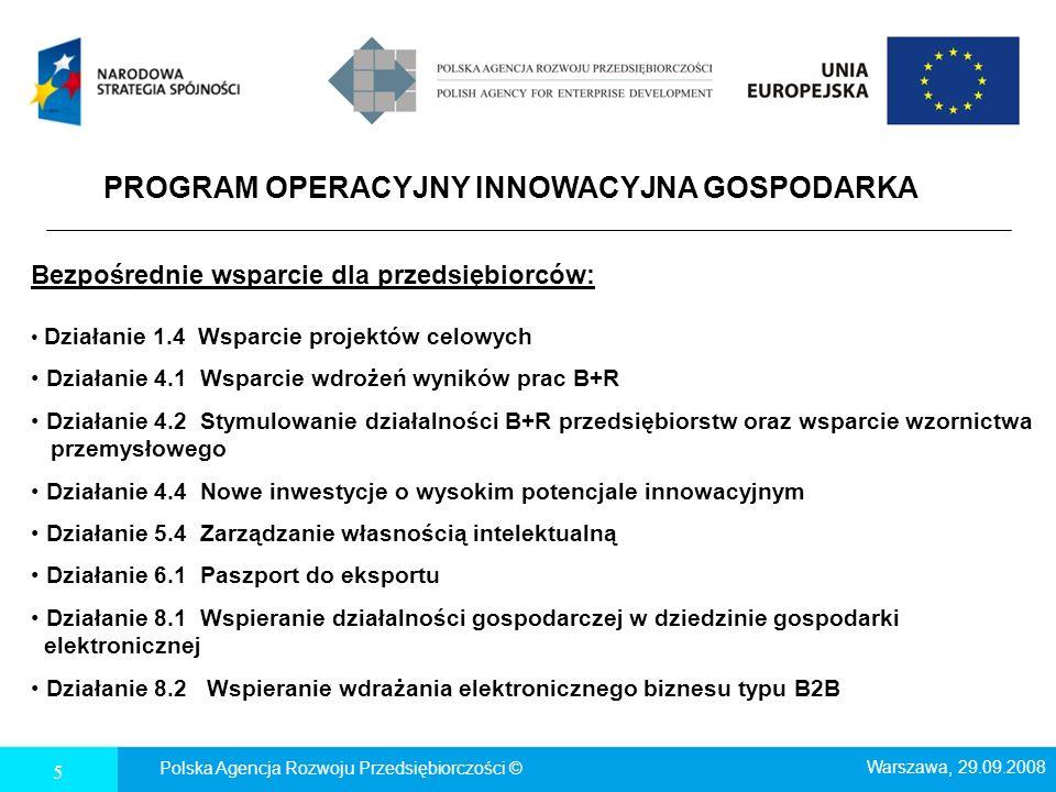 5.1 Wspieranie powiązań kooperacyjnych o znaczeniu ponadregionalnym Polska Agencja Rozwoju Przedsiębiorczości ©16 Wsparcie rozwoju powiązań kooperacyjnych pomiędzy przedsiębiorstwami oraz pomiędzy przedsiębiorcami, a instytucjami otoczenia biznesu oraz jednostkami naukowymi (transfer wiedzy, wymiana doświadczeń, lepsze wykorzystanie infrastruktury, zmniejszenie kosztów działalności).
