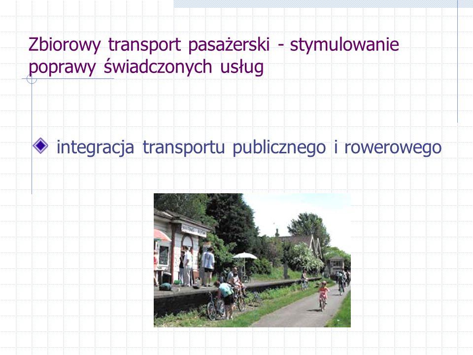 Zbiorowy transport pasażerski - stymulowanie poprawy świadczonych usług integracja transportu publicznego i rowerowego