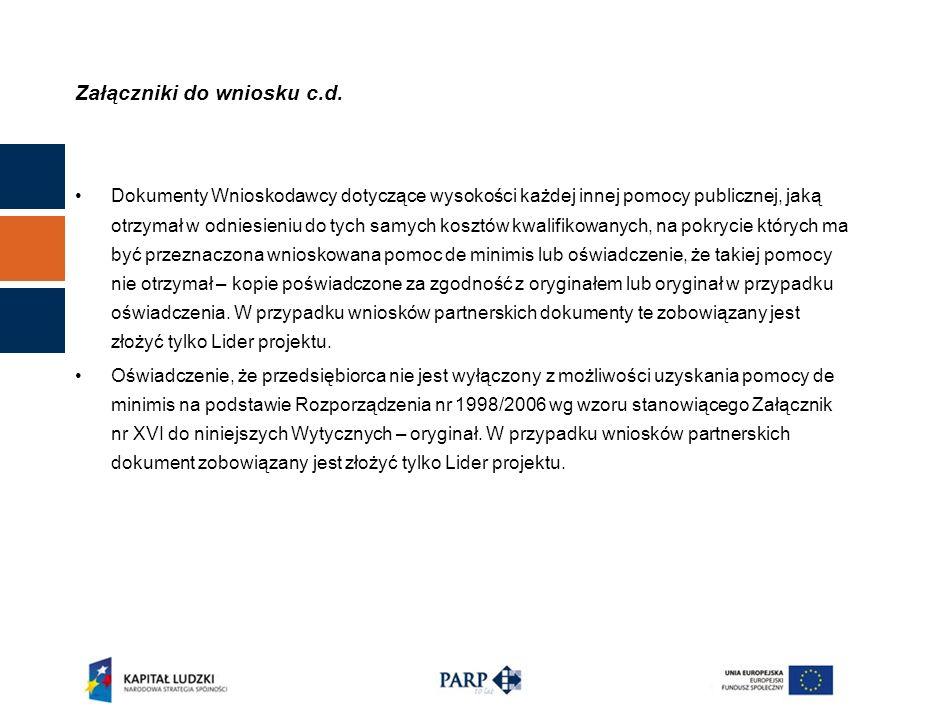 Nadanie numeru referencyjnego W terminie 7 dni od daty wpłynięcia wniosku do PARP.