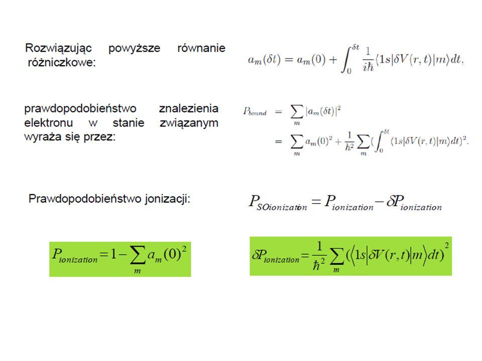 Podsumowanie Prawdopodobieństwo jonizacji jonu H-podobnego na skutek przemiany β, zostało policzone przy wykorzystaniu metody nagłego przybliżenia.