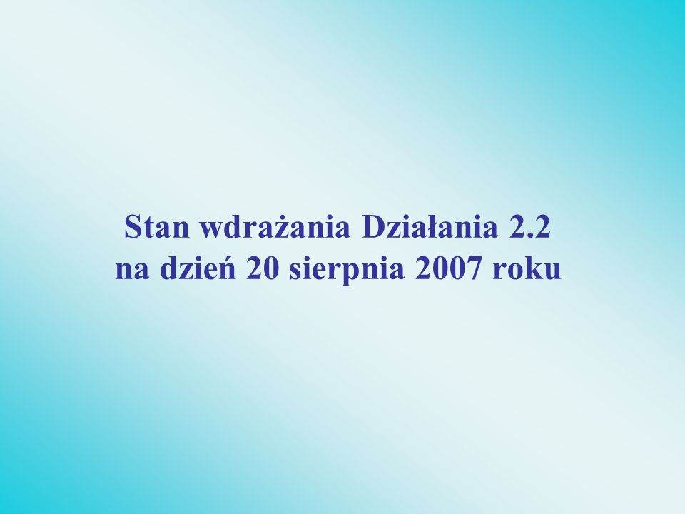 Ilość podpisanych umów o dofinansowanie W ramach 3 edycji konkursowych zawartych zostało łącznie w latach 2004-2006: 95 umów o dofinansowanie projektu Typ I – 53 Typ II - 42