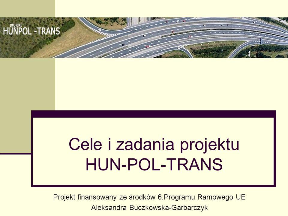 Cele i zadania projektu HUN-POL-TRANS Projekt finansowany ze środków 6.Programu Ramowego UE Aleksandra Buczkowska-Garbarczyk