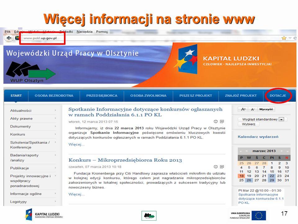17 Więcej informacji na stronie www
