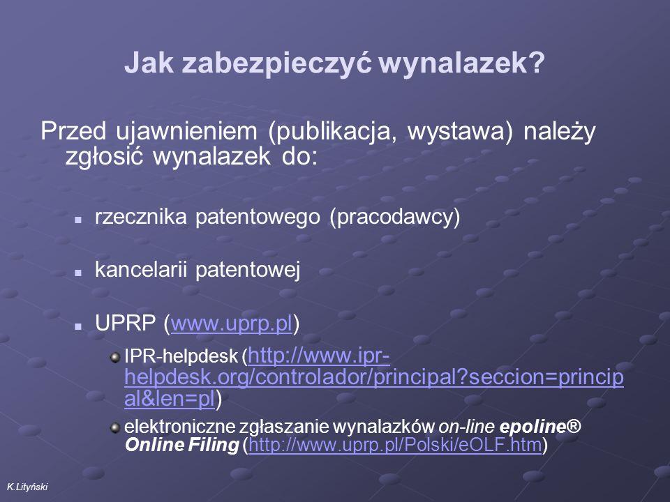 K.Lityński Jak zabezpieczyć wynalazek.