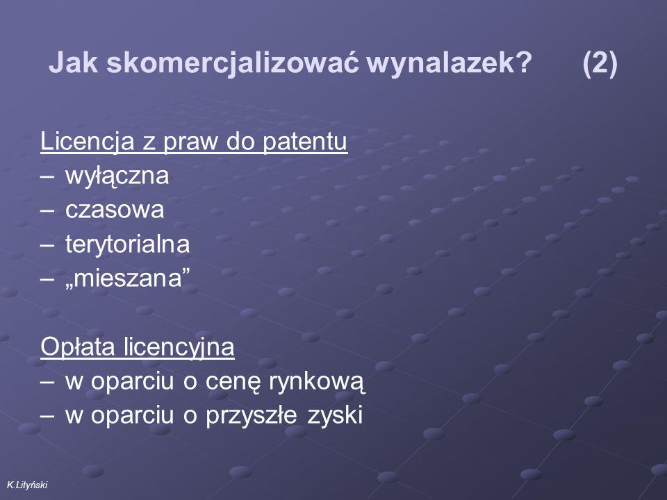 K.Lityński Jak skomercjalizować wynalazek.