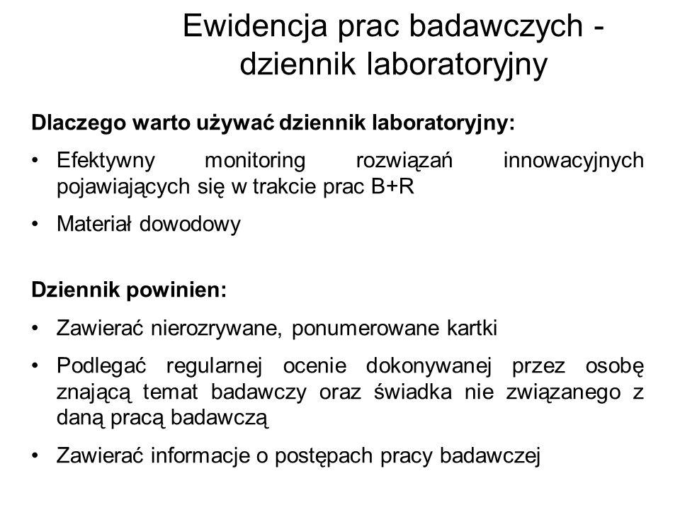 Ewidencja prac badawczych - dziennik laboratoryjny Dlaczego warto używać dziennik laboratoryjny: Efektywny monitoring rozwiązań innowacyjnych pojawiaj