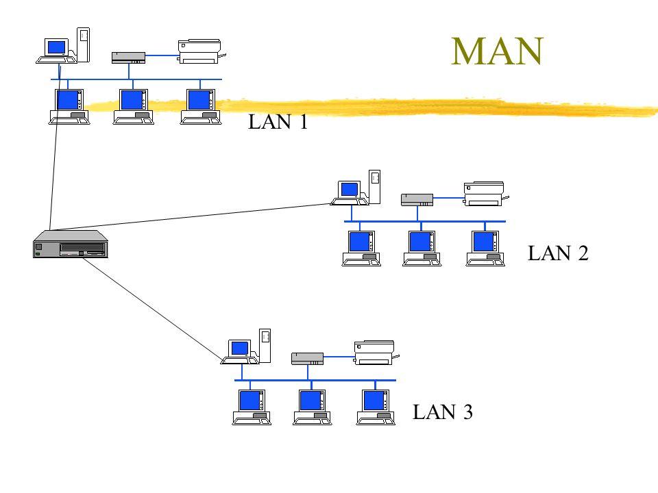 LAN 1 LAN 2 LAN 3 MAN