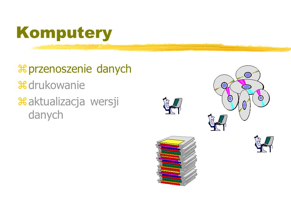 Komputery zprzenoszenie danych zdrukowanie zaktualizacja wersji danych