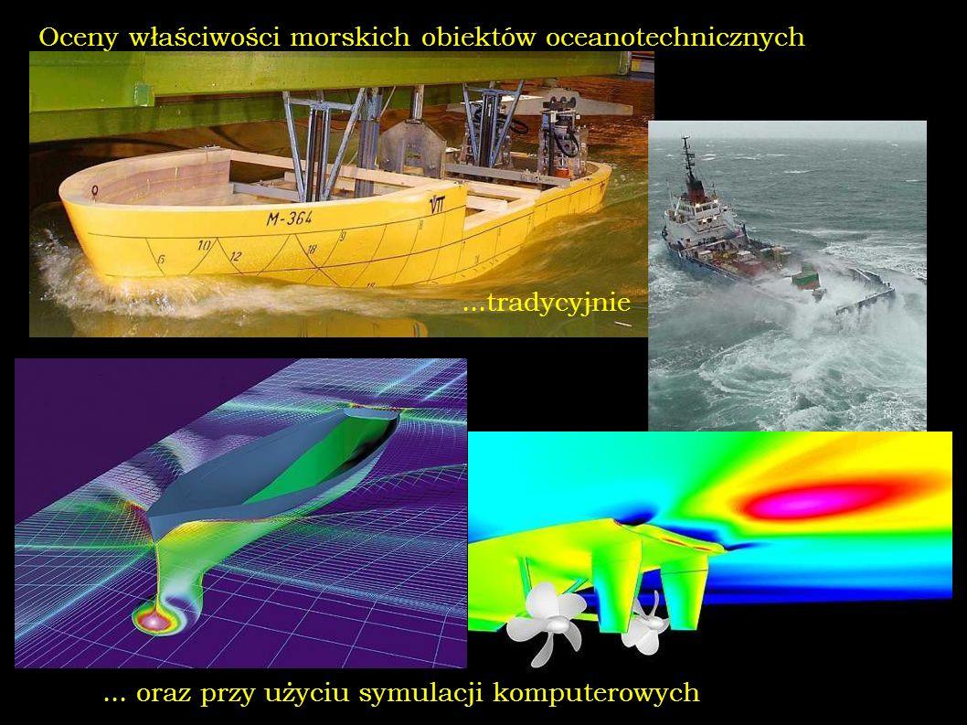 Oceny właściwości morskich obiektów oceanotechnicznych... oraz przy użyciu symulacji komputerowych...tradycyjnie