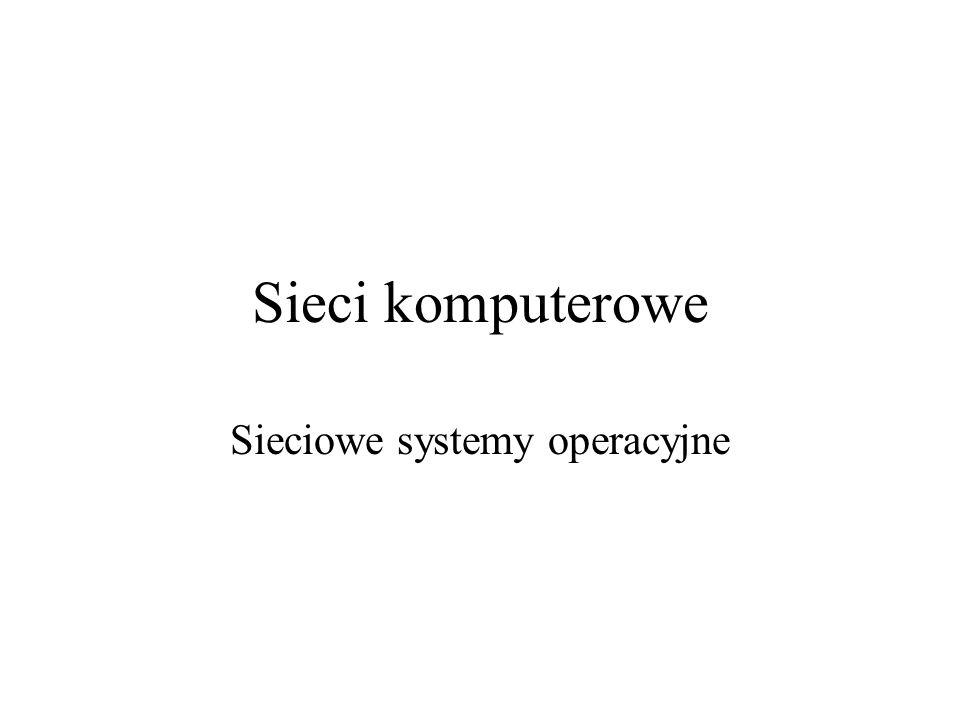 Sieci komputerowe Sieciowe systemy operacyjne