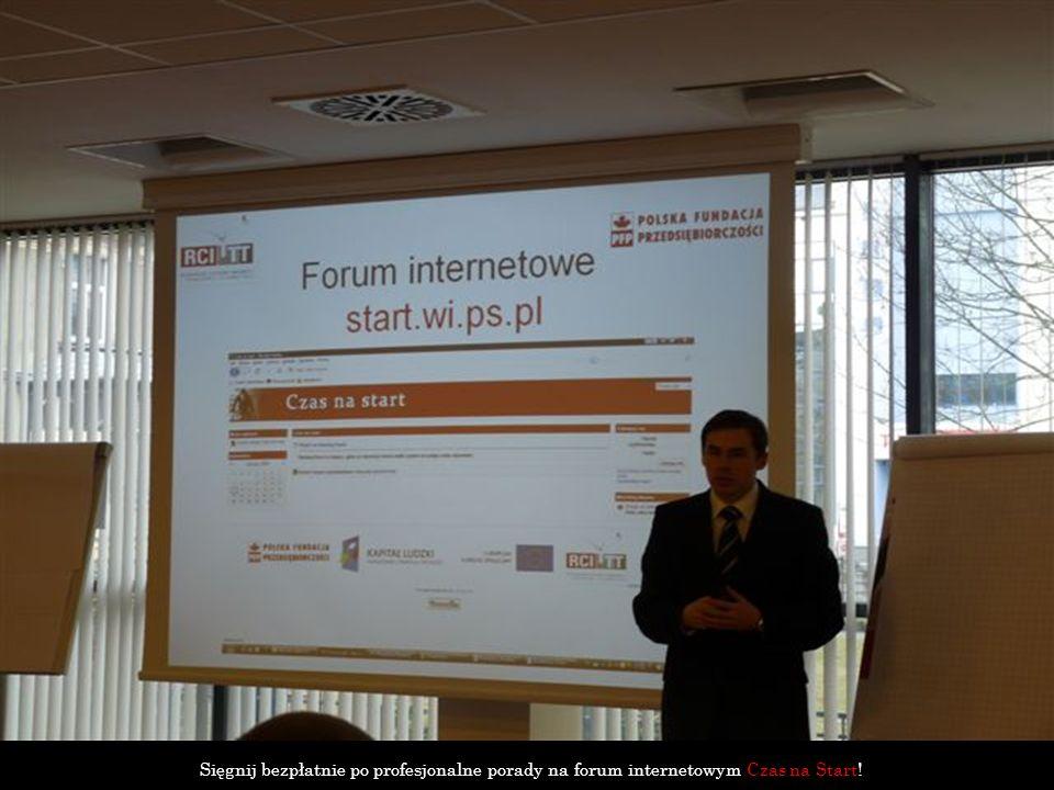 Sięgnij bezpłatnie po profesjonalne porady na forum internetowym Czas na Start!