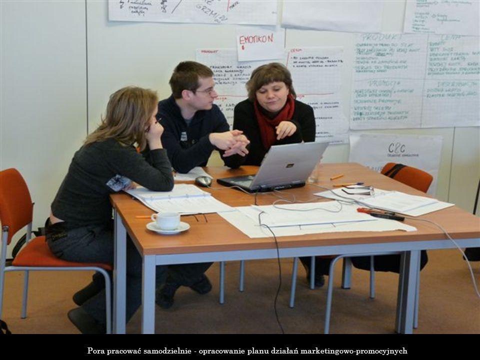 Pora pracować samodzielnie - opracowanie planu działań marketingowo-promocyjnych