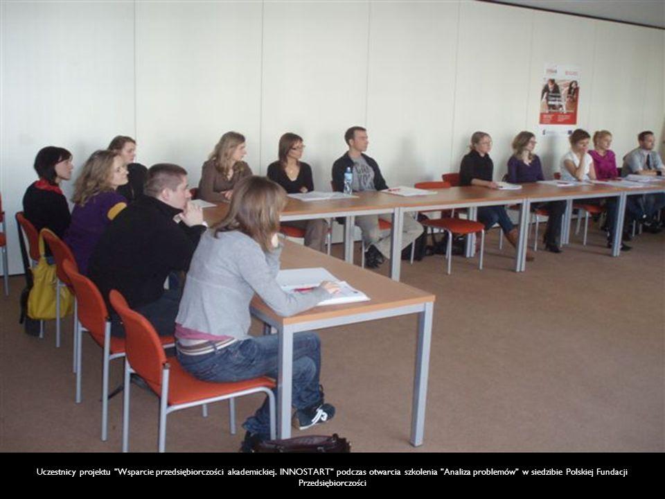 Uczestnicy projektu Wsparcie przedsiębiorczości akademickiej.