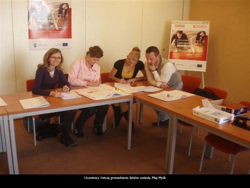 Uczestnicy ćwiczą gromadzenie faktów metodą Map Myśli