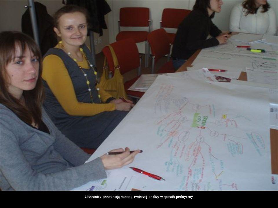Uczestnicy przerabiają metodę twórczej analizy w sposób praktyczny