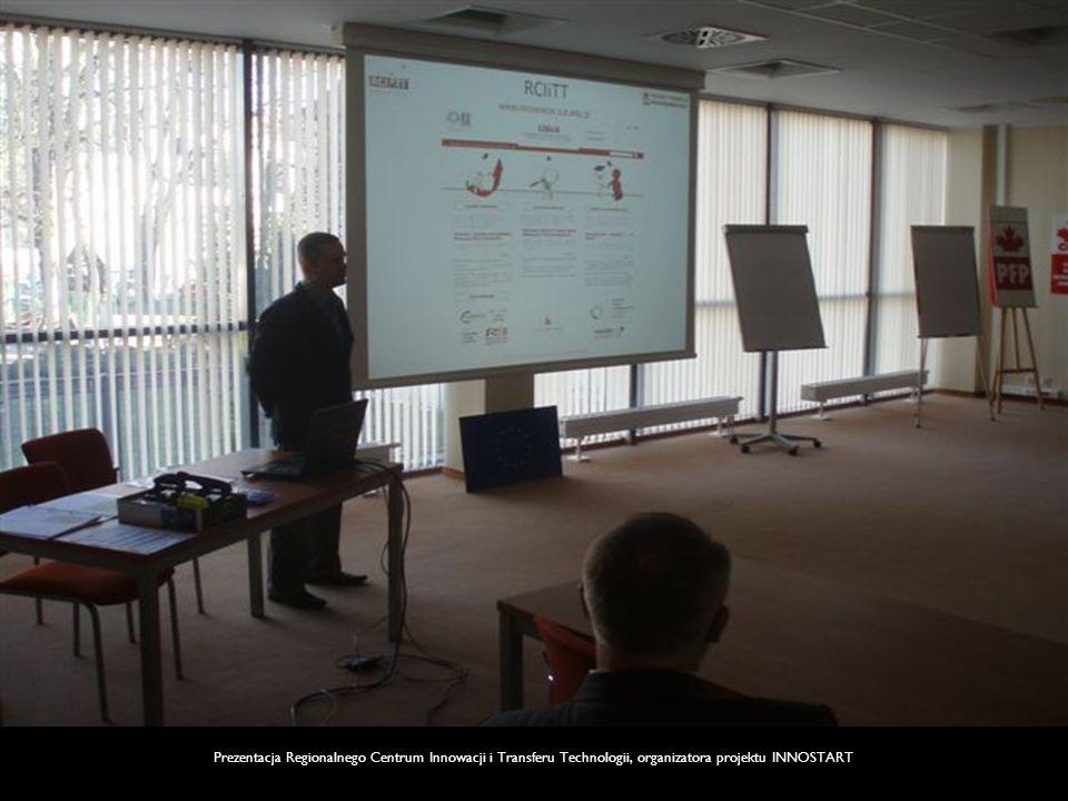 Prezentacja Regionalnego Centrum Innowacji i Transferu Technologii, organizatora projektu INNOSTART