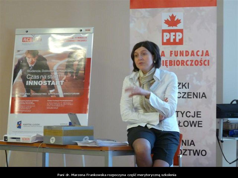 Pani dr. Marzena Frankowska rozpoczyna część merytoryczną szkolenia