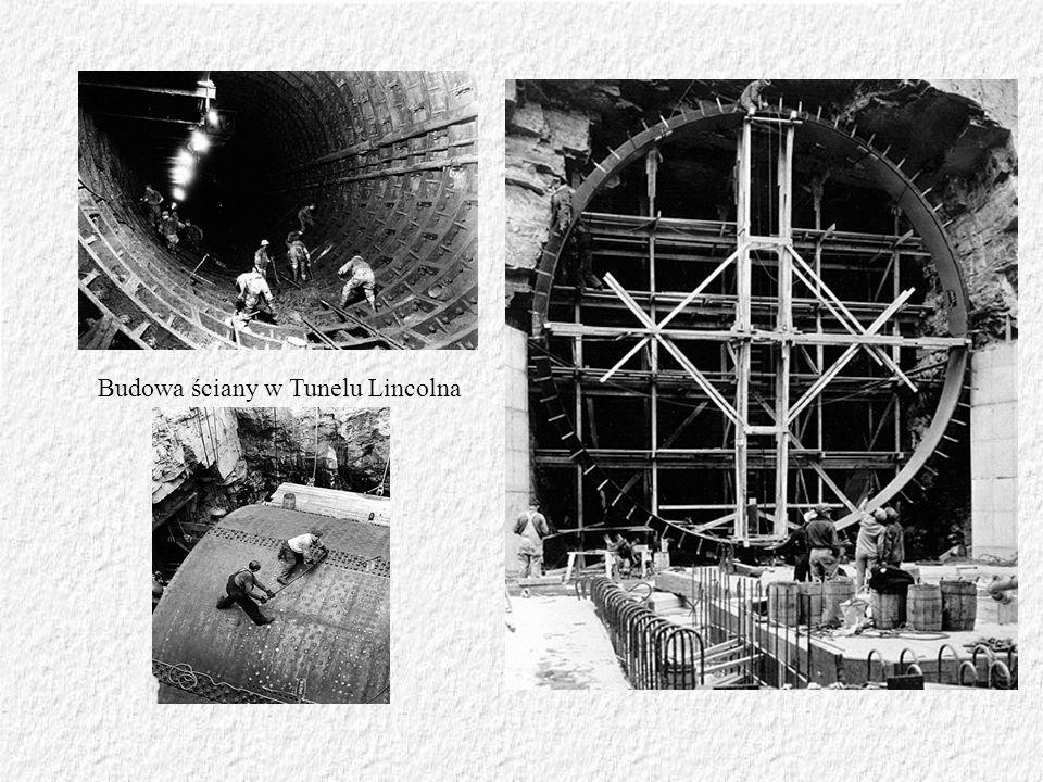 Budowa ściany w Tunelu Lincolna