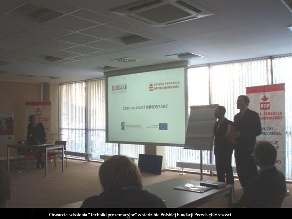 Prezentacja projektu Wsparcie przedsiębiorczości akademickiej. INNOSTART