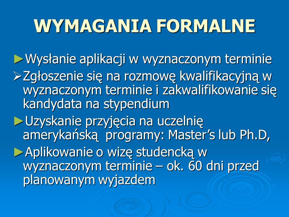 FULBRIGHT ADVANCED RESEARCH AWARDS - JUNIOR 2013-2014 Stypendia na badania naukowe dla obywateli polskich na 5 – 9 miesięcy.