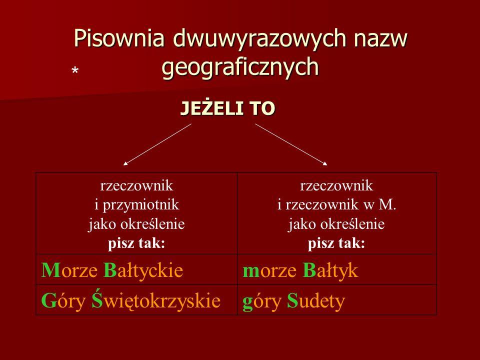 * rzeczownik i przymiotnik jako określenie pisz tak: rzeczownik i rzeczownik w M.