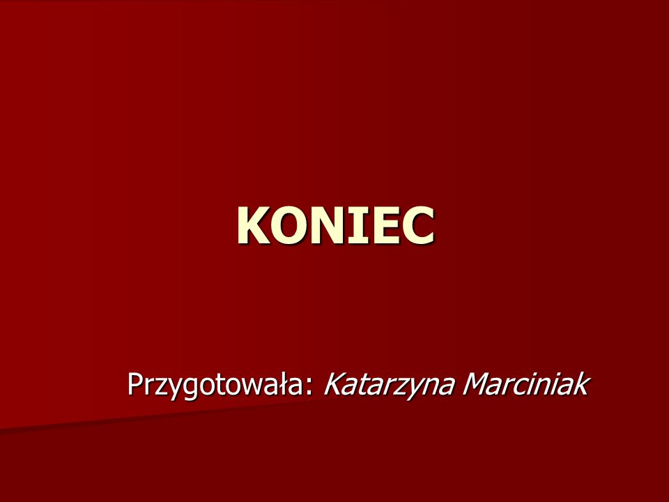 KONIEC Przygotowała: Katarzyna Marciniak