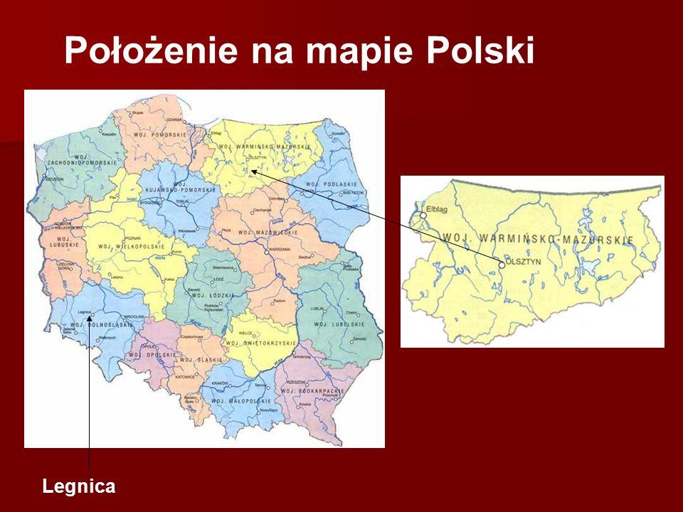 Położenie na mapie Polski Legnica