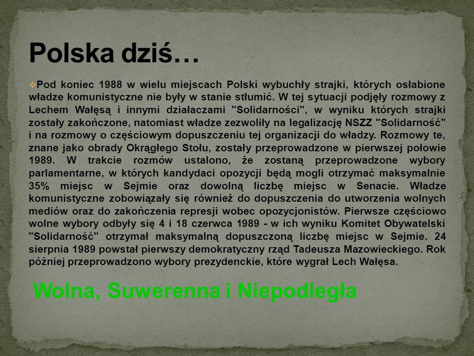 Pod koniec 1988 w wielu miejscach Polski wybuchły strajki, których osłabione władze komunistyczne nie były w stanie stłumić. W tej sytuacji podjęły ro