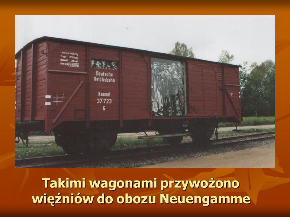 Takimi wagonami przywożono więźniów do obozu Neuengamme