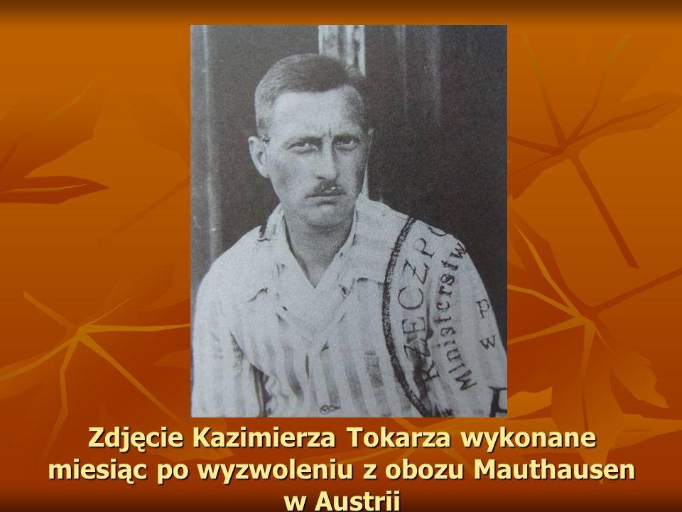 Zdjęcie Kazimierza Tokarza wykonane miesiąc po wyzwoleniu z obozu Mauthausen w Austrii