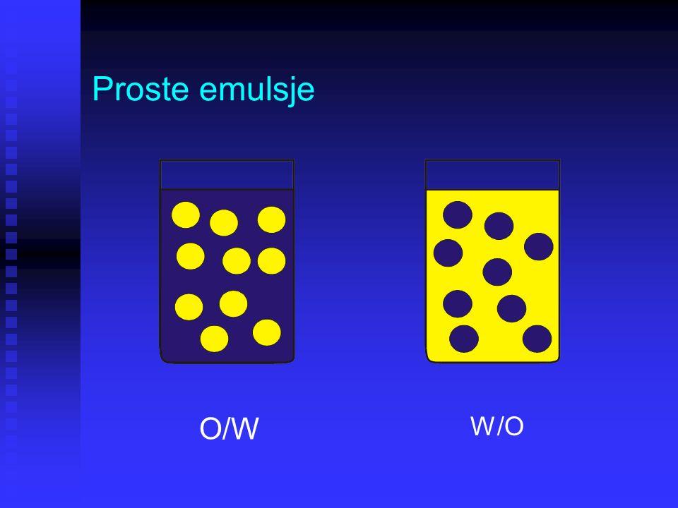 Proste emulsje O/W W/O