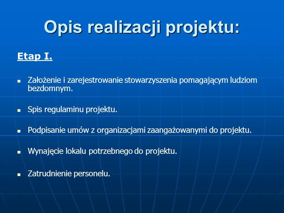 Opis realizacji projektu: Etap I.