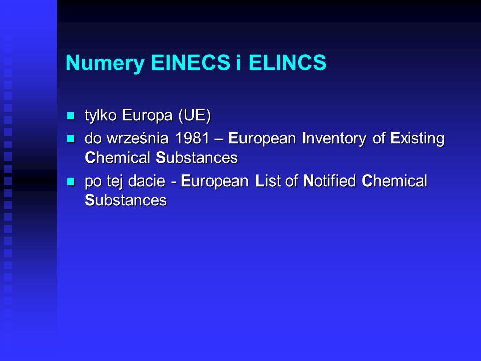 Numer CAS Chemical Abstracts (CA) Chemical Abstracts (CA) czasopismo zamieszczające skróty wszystkich publikacji naukowych z dziedziny chemii czasopis