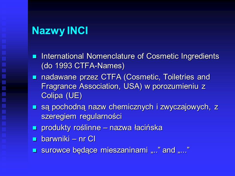 Inne nazwy Farmakopealne Farmakopealne Farmakopea Polska VI, inne Farmakopea Polska VI, inne np. olej parafinowy = paraffinum liquidum np. olej parafi