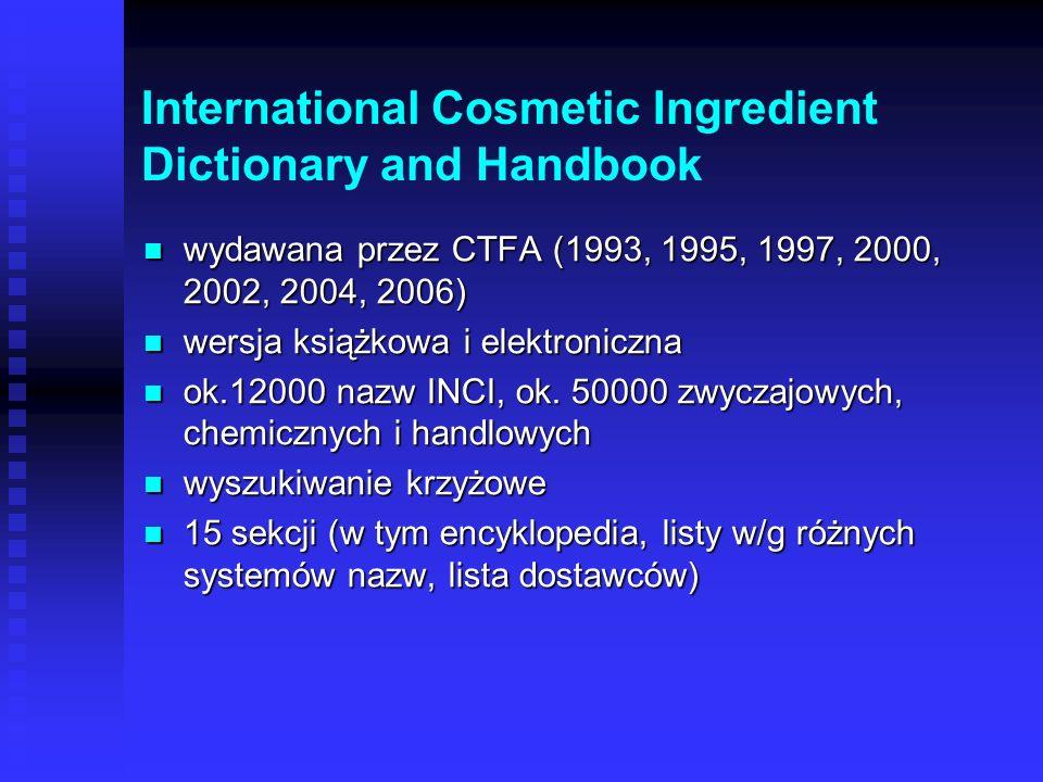 Podawanie nazw INCI obowiązuje od dawna w krajach Unii Europejskiej obowiązuje od dawna w krajach Unii Europejskiej obowiązuje w Polsce od 12.05.2002