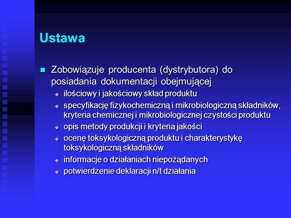Ustawa zobowiązuje producenta (dystrybutora) zobowiązuje producenta (dystrybutora) do zgłoszenia kosmetyku do krajowego systemu informowania (IMP w Ło