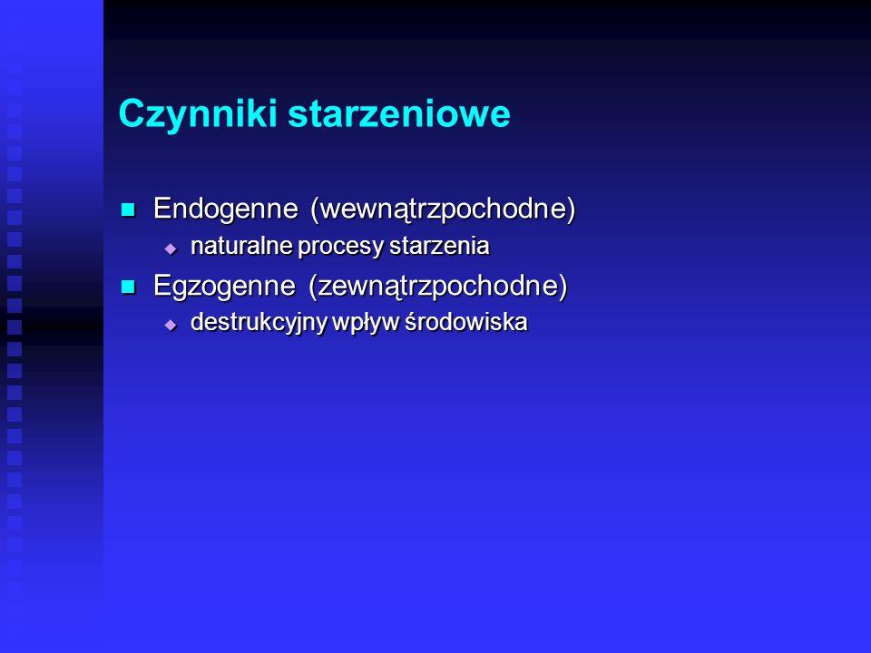 Osłabienie mechanizmów obronnych Osłabienie mechanizmów obronnych Spowolnienie naturalnej odnowy tkankowej Spowolnienie naturalnej odnowy tkankowej Wo