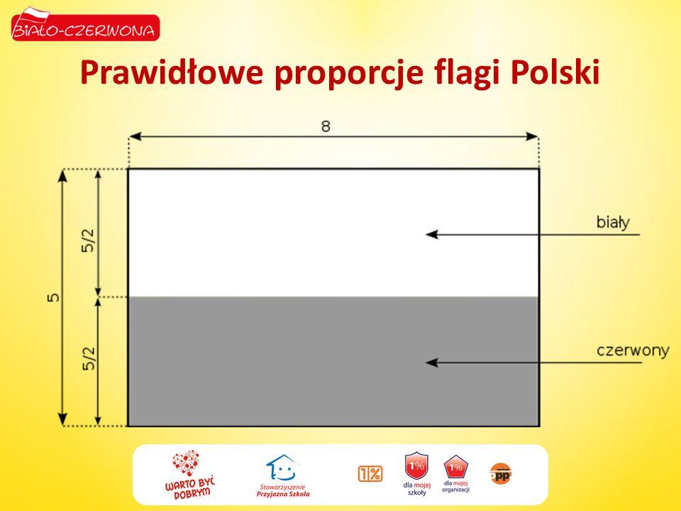 Prawidłowe proporcje flagi Polski