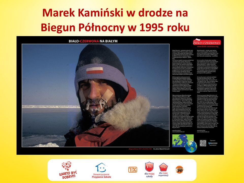 Marek Kamiński w drodze na Biegun Północny w 1995 roku