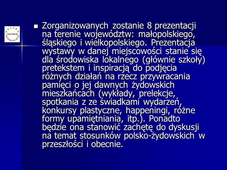 Zorganizowanych zostanie 8 prezentacji na terenie województw: małopolskiego, śląskiego i wielkopolskiego.